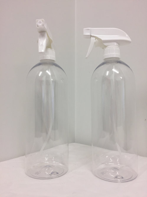 Clear PET Bottle with Trigger Spray Gun - 1L