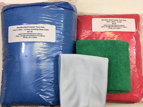Microfibre Glass Cleaning Cloth 40cm x 40cm
