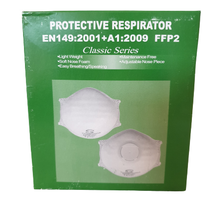 P2 Masks with Valve - box of 12