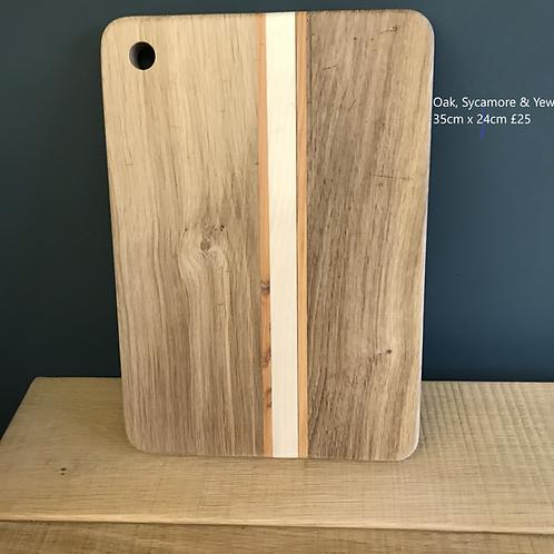 Oak Sycamore & Yew Chopping Board