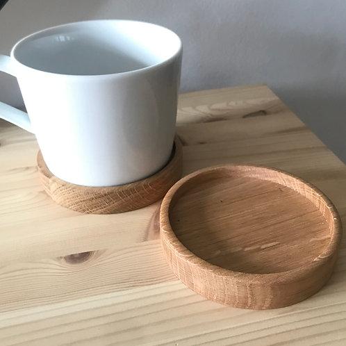 Oak Coaster Set