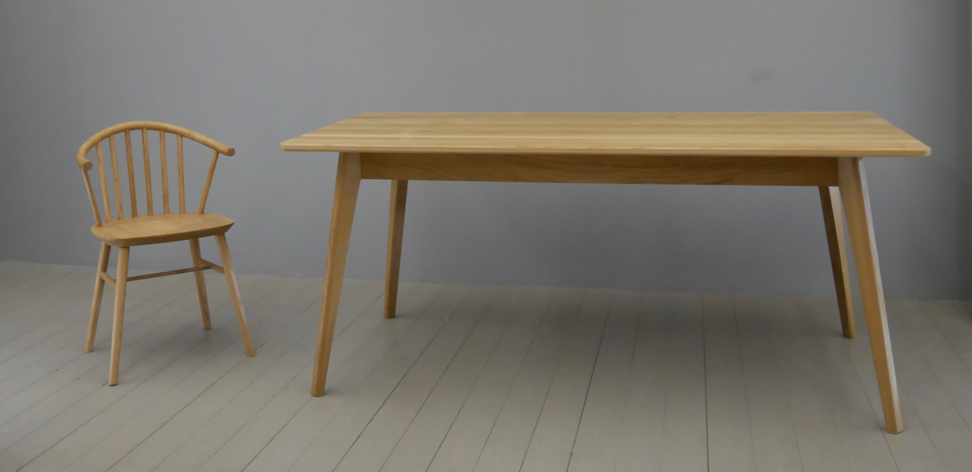 Morlaix Solid Oak Dining Table with Enzo Chair