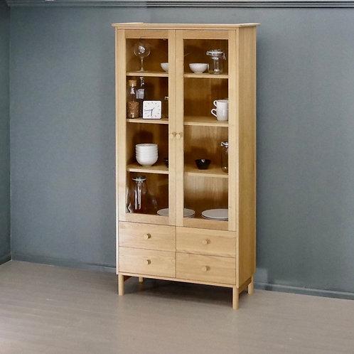 Morlaix Oak Display Cabinet