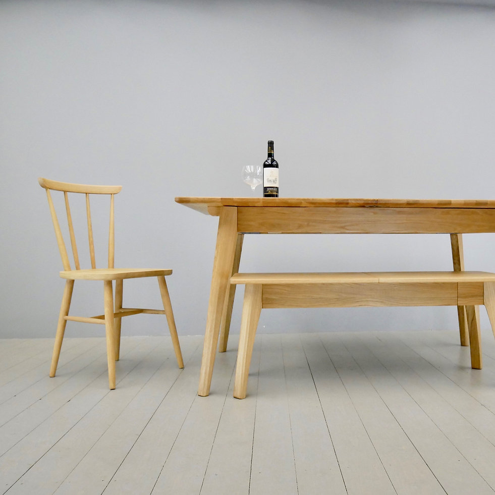 morlaix table & bench with monsal chair.