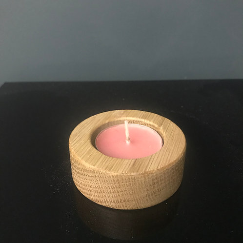 Small Oak Tealight Holder