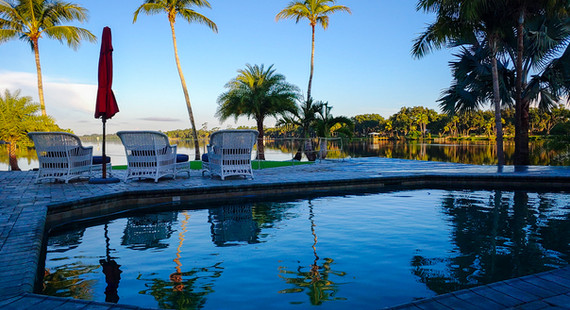 Grace River Island Resort - Pool Evening