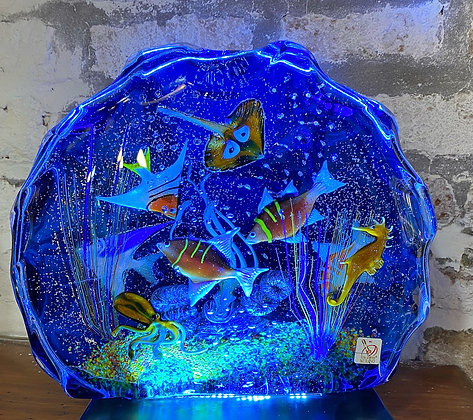 Exclusive blue king size aquarium
