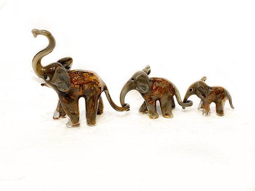 Tris elefanti grigio