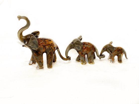 Tris elefanti grigio avventurina