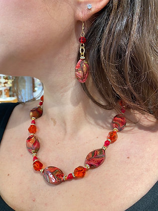 Collana madreperla Venezia red
