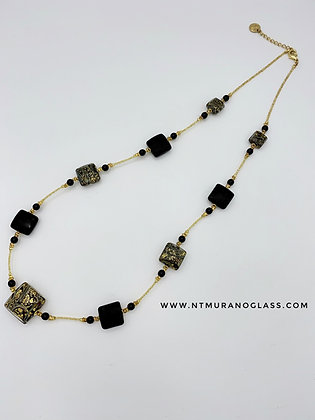 Black chalcedony necklace