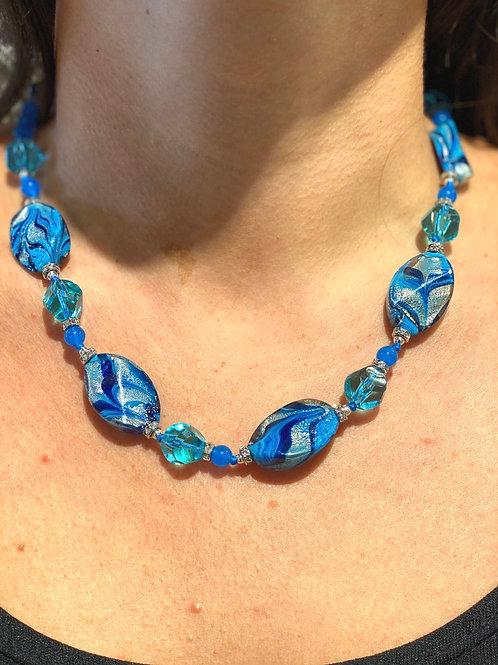 Light blue necklace Venezia