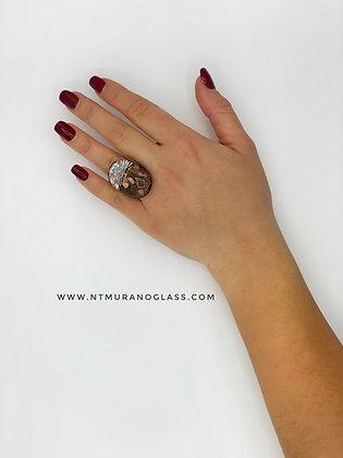 Black Klimt ring