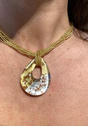 Klimt ivory pendant