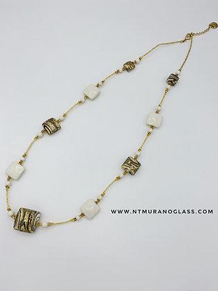 Ivory chalcedony necklace
