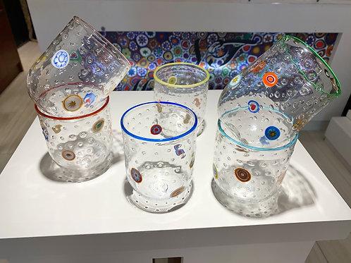 Mosaic Murano Glass tumblers