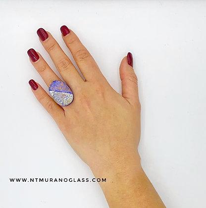 Blue Klimt ring