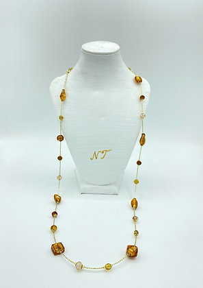 Long Sophie amber necklace