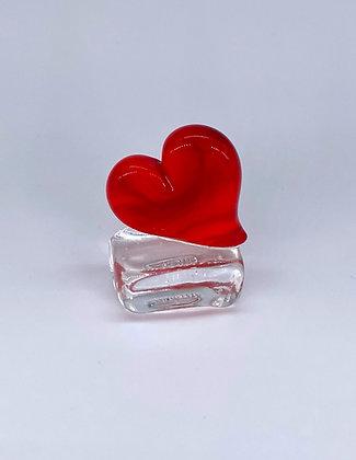 Love heart on base
