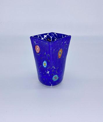 Bicchiere murrine quadrato