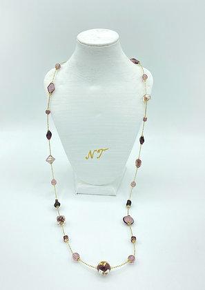 Long Sophie violet necklace