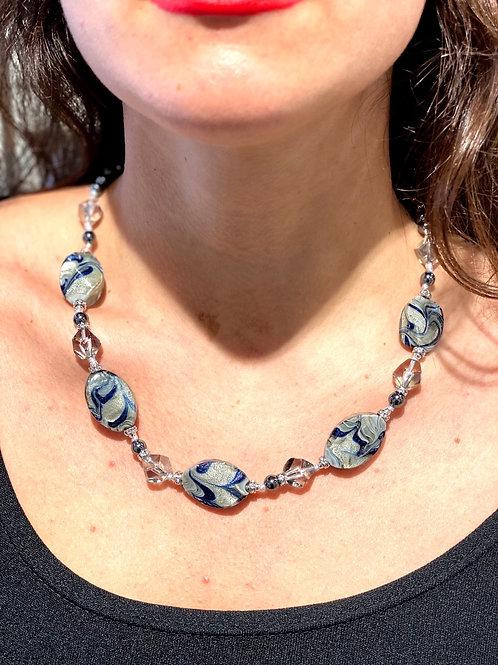 Grey necklace Venezia