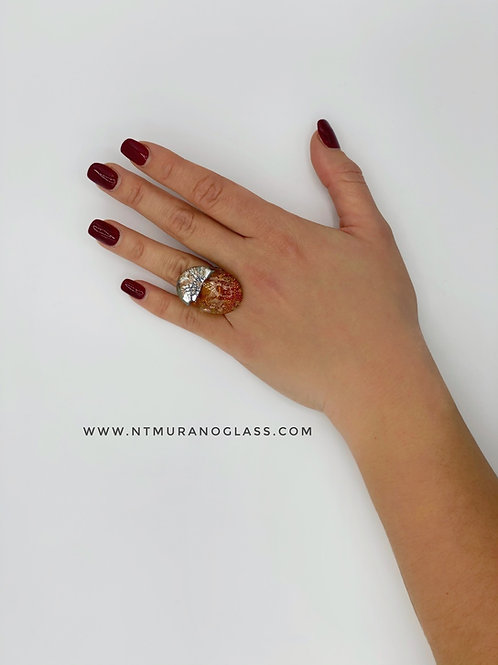 Red Klimt Ring