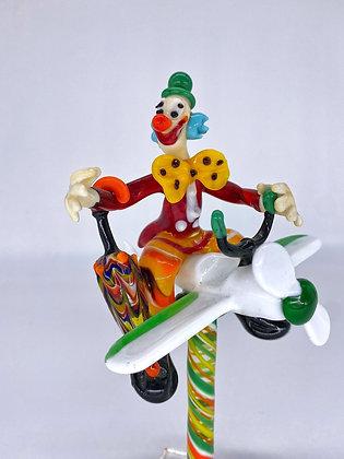 Clown su aereoplano