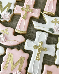Baptism Decorated Cookies Montreal
