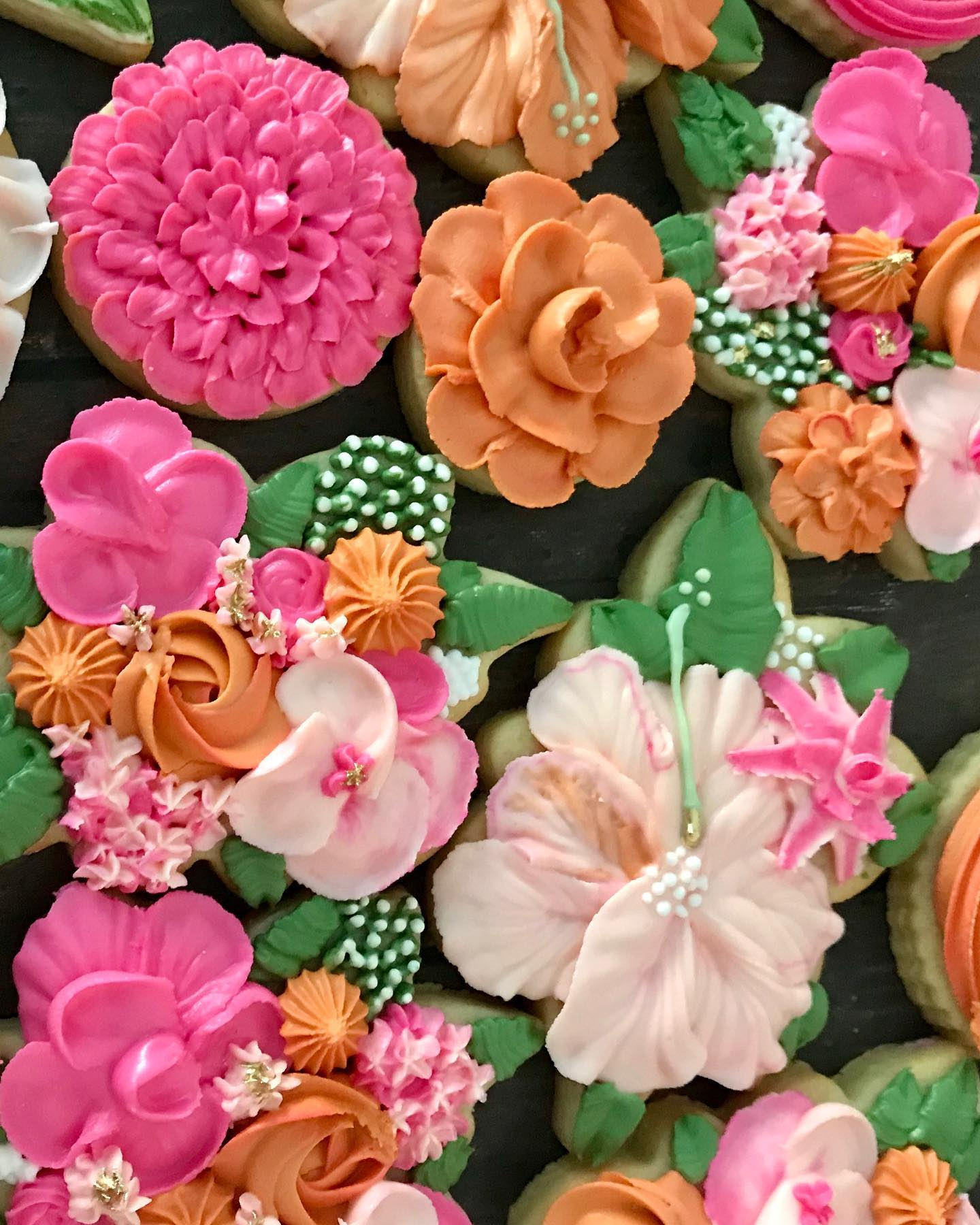 Hand florals Decorated Cookies