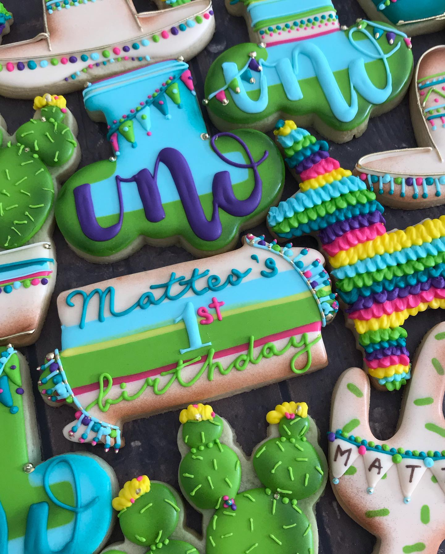 Fiesta Decorated Cookies