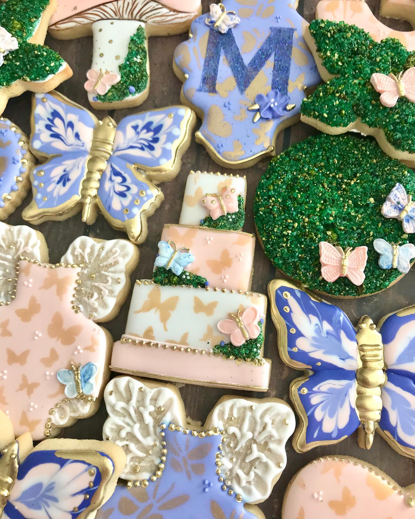 Papillion Butterfly Decorated Cookies
