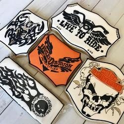 Tattoo Harley Davidson Cookie Art