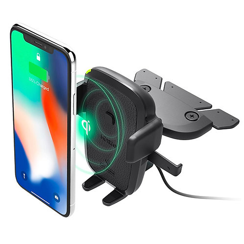 iOttie Easy One Touch Wireless  Fast Charger CD Slot Mount