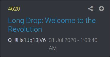 Welcome To The REVOLUTION ( A Breakdown of Q INTEL-COMMS) - 7/31/20