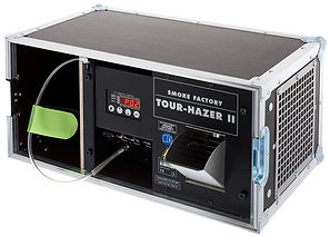 Smoke Factory Tour Hazer II touring unit with its small and simple design is perfect for any live performance, theatre, art installation, game hall to create powerful visual effects.