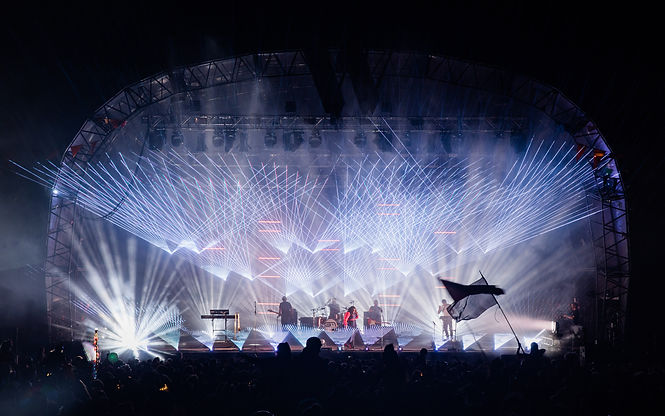 Colour Sound Experiment and Groove Armada at Wilderness Festival. Our lighting, screens, rigging & laser stock are available to dry hire.