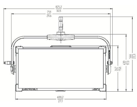 Colour Sound Experiment introduces Arri's SkyPanel S60-C soft lighting panel. Light aperture and fixture's measurment.