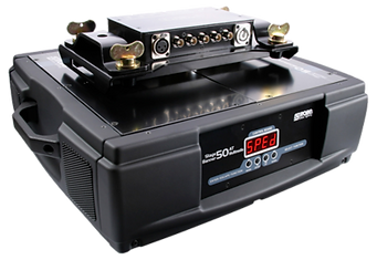 Robe's Media Spinner 50 AT can load a maximum of 50kg. If you're looking to load heavy equipment on, we have a 100 AT available to hire at Colour Sound Experiment.