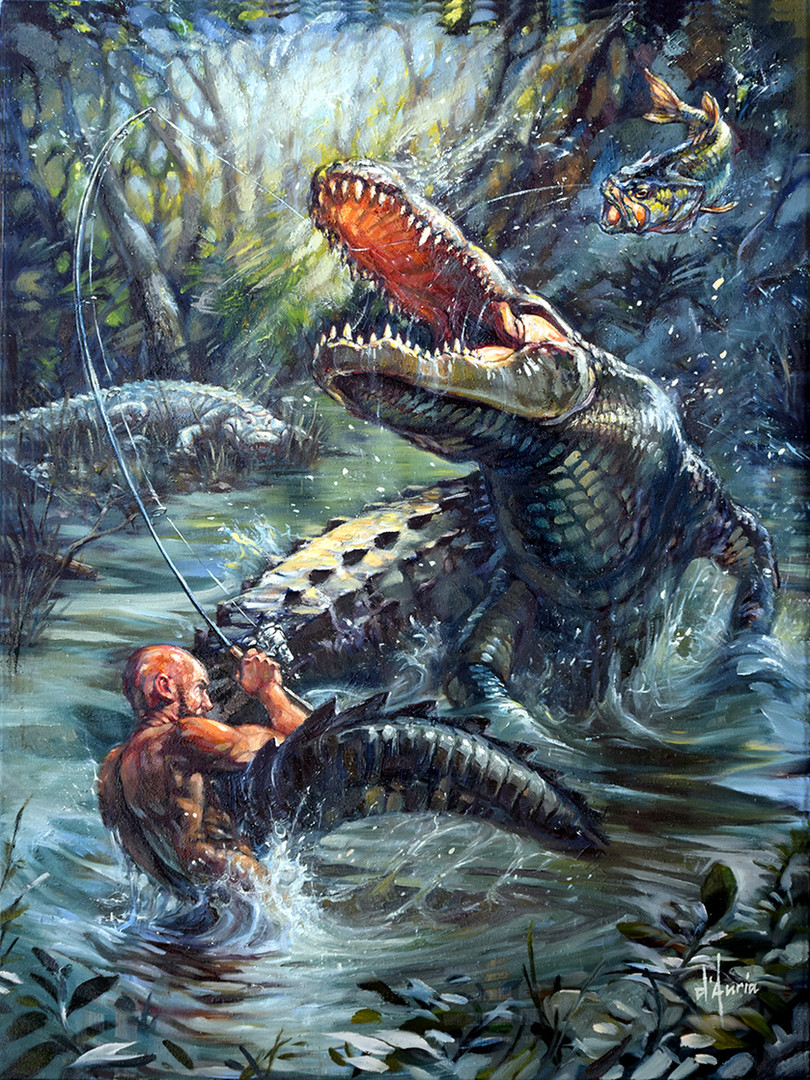 Alligator-Bass-Painting-Signed-dauria.jp