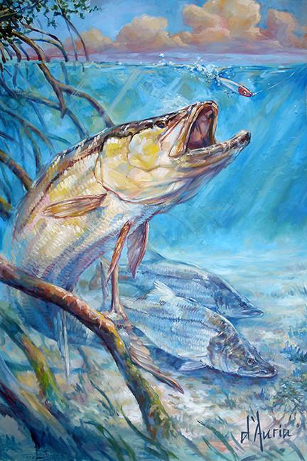 Open-Season-snook-mangroves-oil-painting