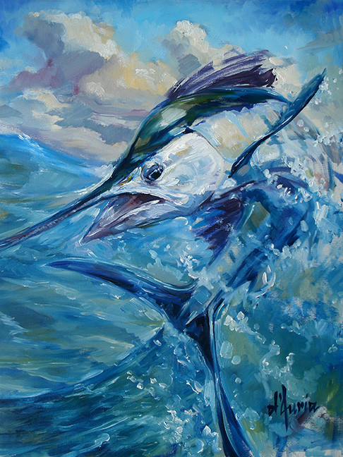 Sailfish-artwork-tom-d'auria-oil-paintin