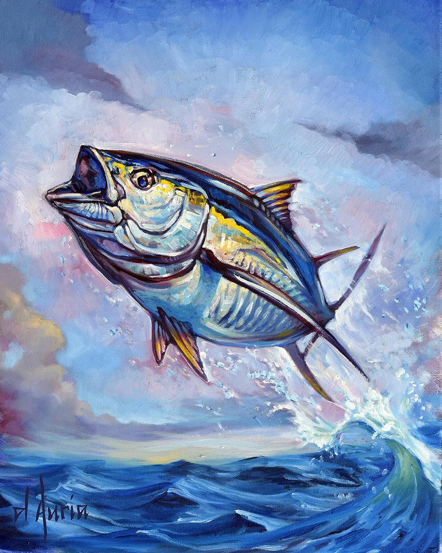 Tuna-jumping-ocean-waves-yellowfin-black