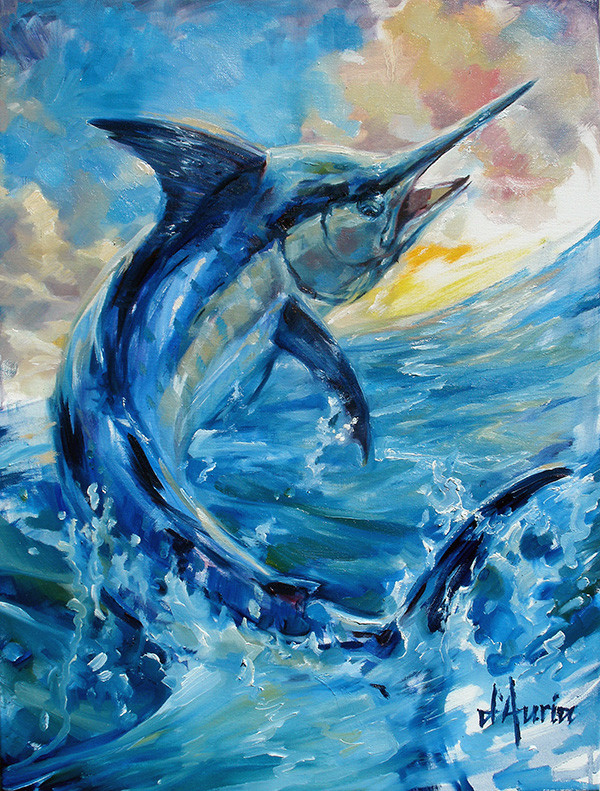 Marlin-Sunrise-fine-art-america-tom-daur