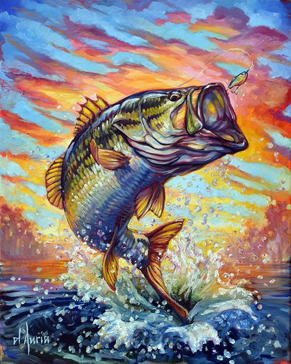 Bass-jumping-sunset-fishing-freshwater-b