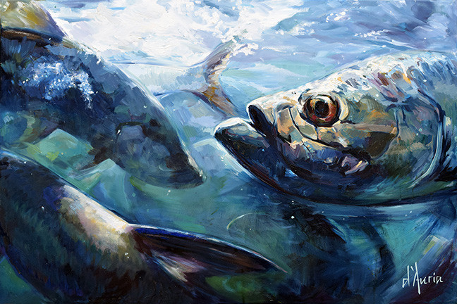 Megalops-tarpon-inshore-snook-oil-painti