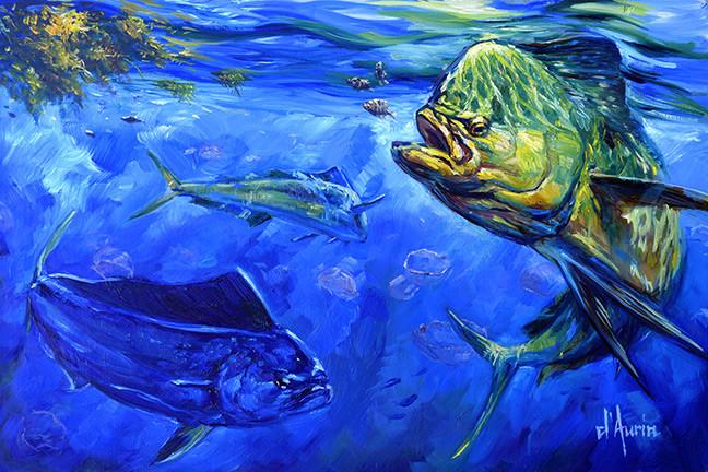 Mahi-and-moon-jellyfish-oil-painting-dau