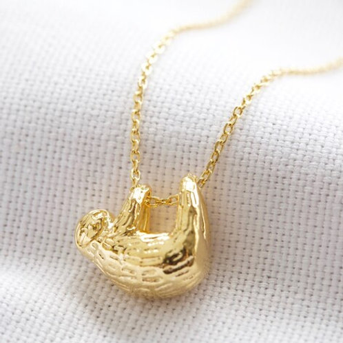 Sloth Necklace in Gold