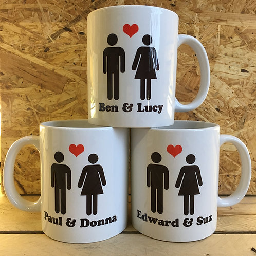 Personalised 'You & Me' Mug