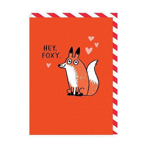 'Hey Foxy' valentines card